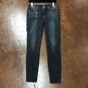 Paige Jeans Straight Leg Zipper Accent
